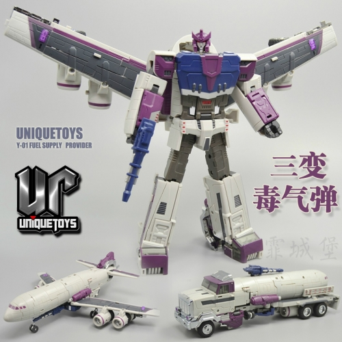 Transformer Toy Unique Toys UT Y-01 Y01 Fuel Supply Provider Octan e Triple Changer Reissue