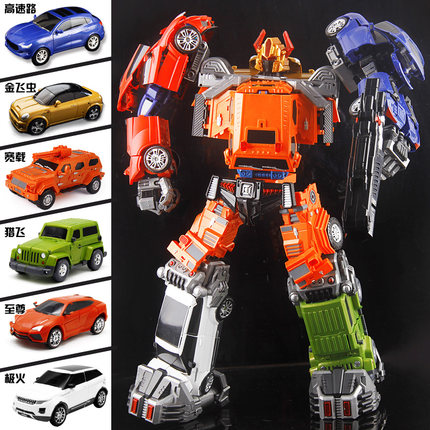 "Special Price!Complete Loose set!50cm/19"" Weijiang WJ Oversized Throttlebots Adjustment Car Team complete set of 6 with combiner parts-Rollbar Searchl"